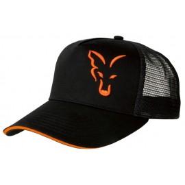 FOX BLACK / ORANGE TRUCKER CAP